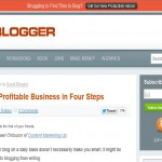 problogger blog layout example